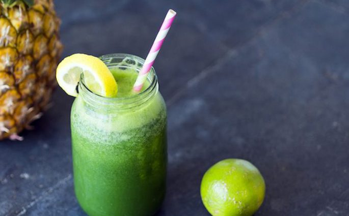Palak Pineapple Juice