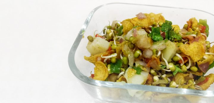 Sprout Cornflakes Chaat Salad